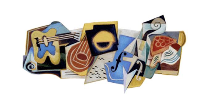 Google Doodle per Juan Gris con il logo cubista