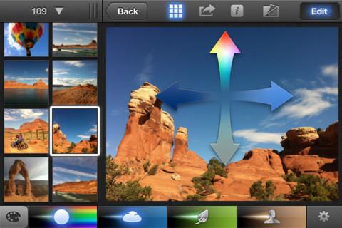 iphoto menu effetti