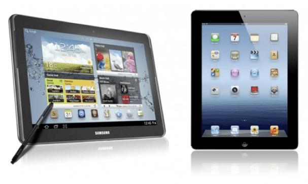 Samsung Galaxy Note 10.1 vs nuovo iPad: lotta tra titani [FOTO]