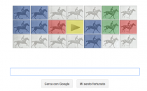 Google Doodle per Eadweard Muybridge, con il cavallo in movimento