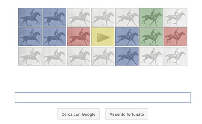 Google Doodle per Eadweard Muybridge, con il cavallo in movimento