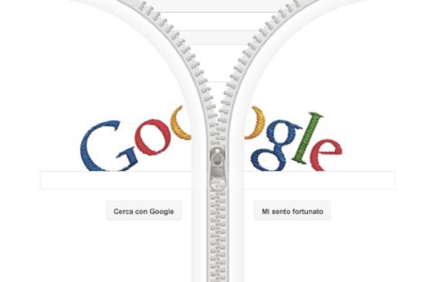 Google Doodle per Gideon Sundback con la cerniera a zip