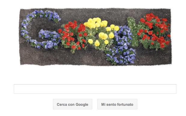 Google Doodle per il Giorno della Terra con logo fiorito