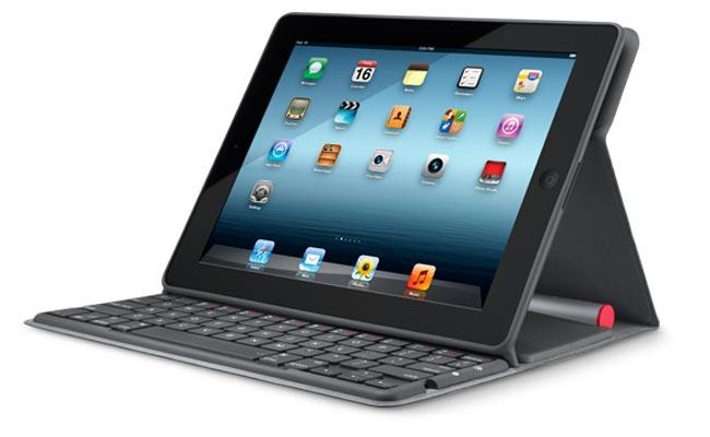 Logitech Solar Keyboard Folio per iPad, custodia con tastiera alimentata dal sole