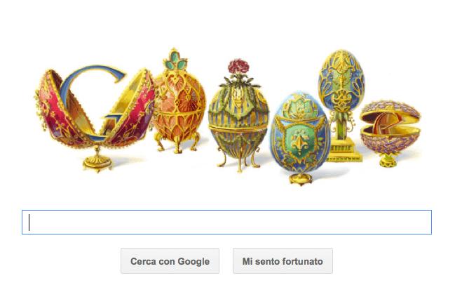Google Doodle per Peter Carl Fabergé con le preziose uova