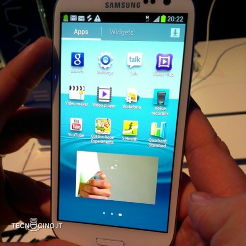 samsung galaxy s iii popup picture foto