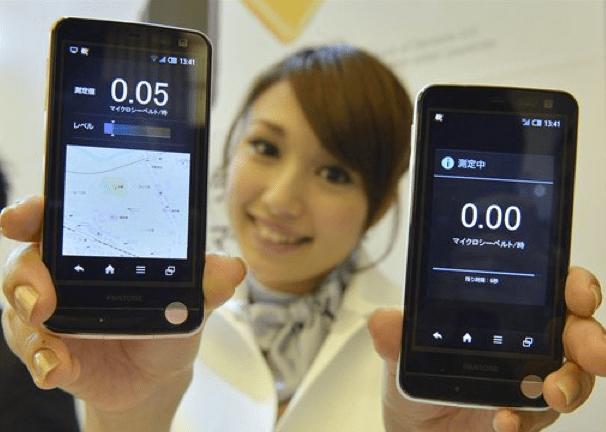 Smartphone Android che misura le radiazioni, in Giappone