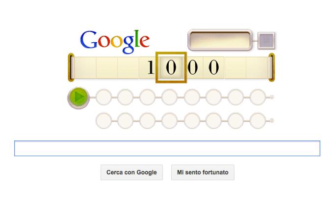 Google Doodle per Alan Touring con il logo da decodificare