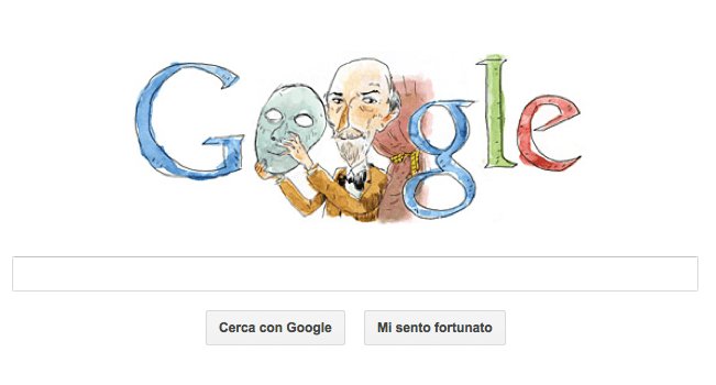 Google Doodle per Luigi Pirandello, premio Nobel per la letteratura