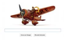 Google Doodle per Amelia Earhart, laviatrice dei record