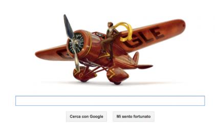 Google Doodle per Amelia Earhart, l'aviatrice dei record