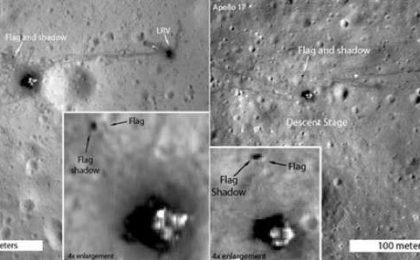 Bandiere delle missioni Apollo sulla Luna? Sono ancora lì [FOTO]