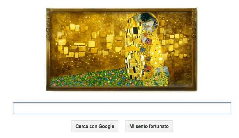 Google Doodle al Bacio per Gustav Klimt