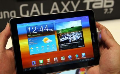 Samsung Galaxy Tab 7.7: uscita in Europa bloccata da Apple