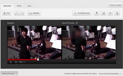 Video Youtube: oscuramento dei volti per proteggere la privacy