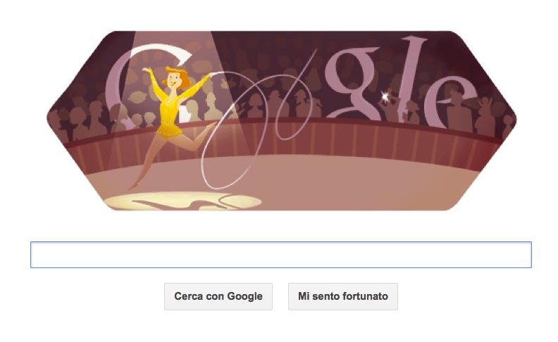 google doodle ginnastica artistica olimpiadi 2012