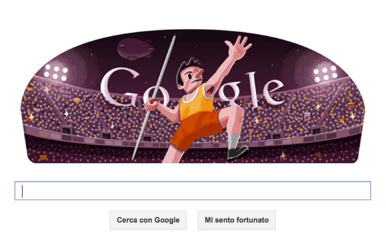 google doodle olimpiadi 2012 londra lancio giavellotto