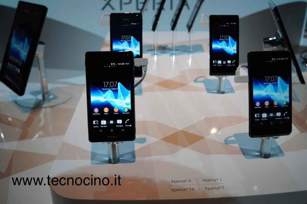 sony xperia smartphone ifa 2012