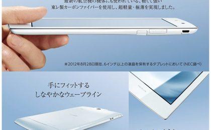 NEC N08-D, il tablet più leggero al mondo [FOTO]