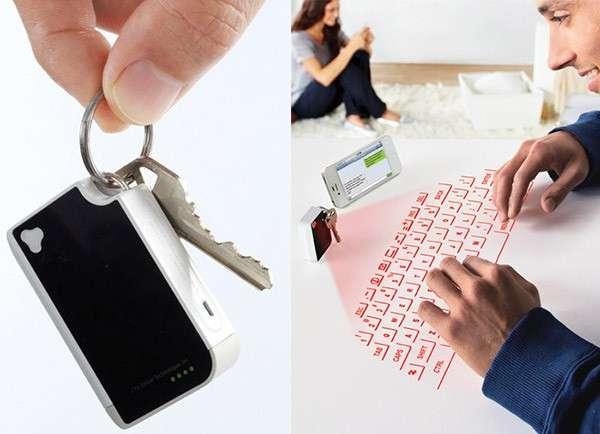 Tastiera virtuale laser nascosta nel portachiavi [FOTO]