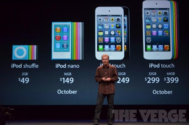 nuovi ipod 2012 prezzi