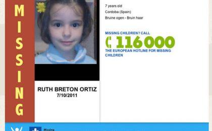 Pagina 404 personalizzata per ritrovare bambini scomparsi
