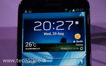 Samsung Galaxy Note 2: video anteprima da IFA 2012 [FOTO e VIDEO]