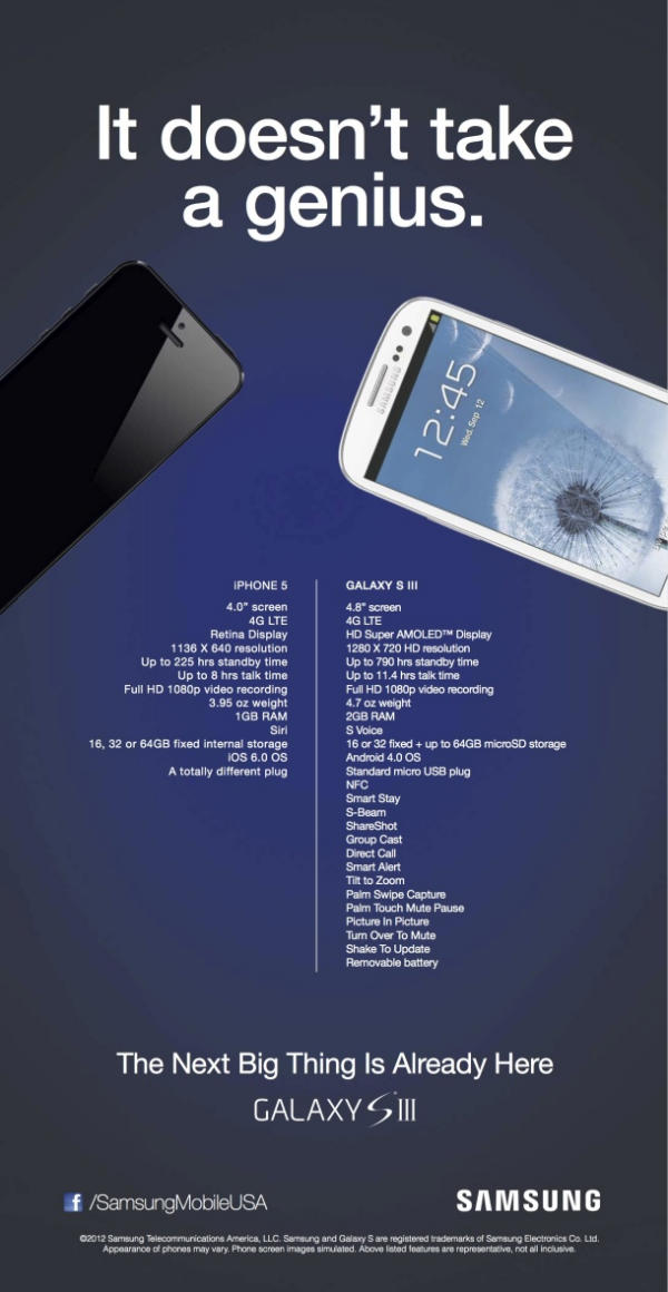 iphone 5 vs galaxy s3 ad full