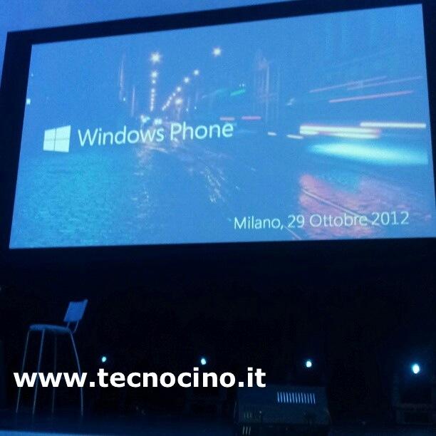 windows phone evento