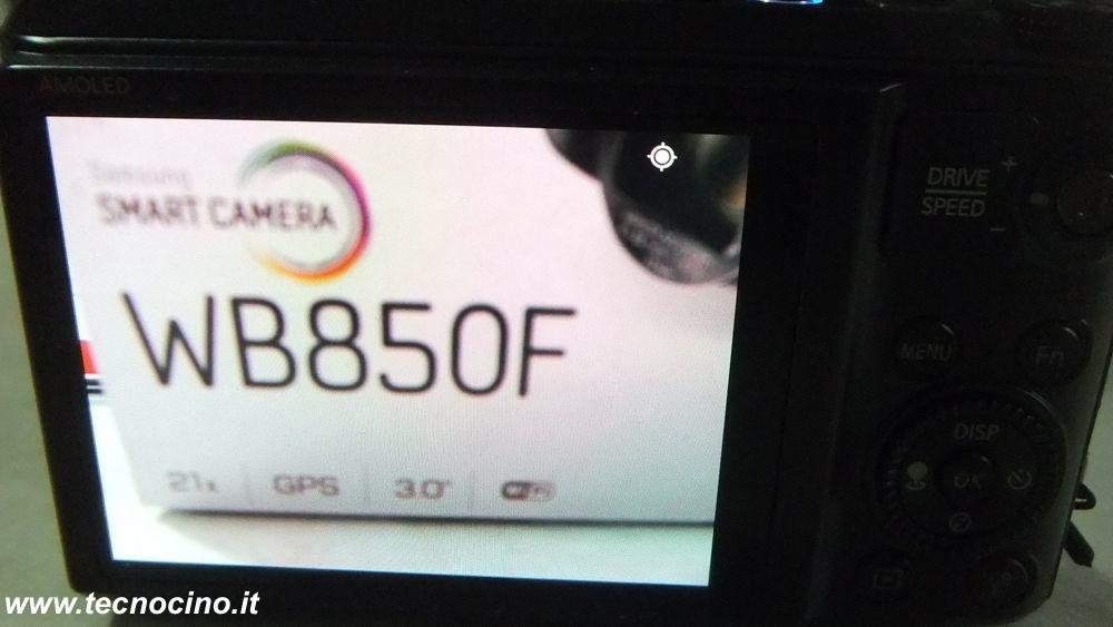 Samsung WB850F schermo