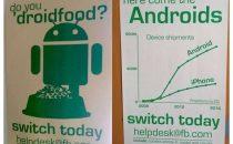 Facebook consiglia di passare da iPhone a Android [FOTO]