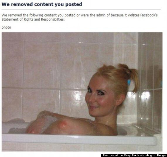 Facebook censura la foto tranello della ragazza nella vasca