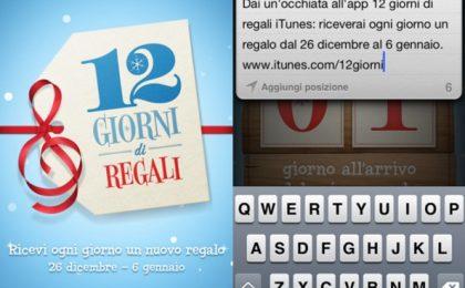 12 giorni di regali su iTunes: apps, ebook e musica gratis per iPhone