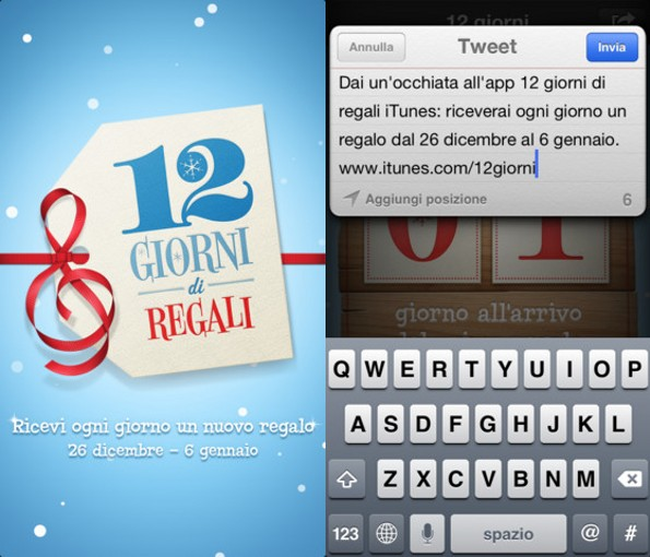 12 giorni di regali su iTunes: apps, ebook e musica gratis per iPhone