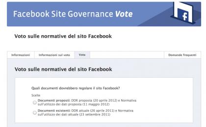 Facebook e privacy: l'impossibile (e ultimo) referendum