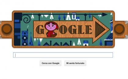Google Doodle per i fratelli Grimm con Cappuccetto Rosso