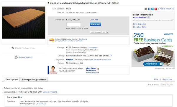iphone 5 cartone ebay
