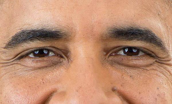 Ritratto fotografico Obama 2013 occhi riflesso