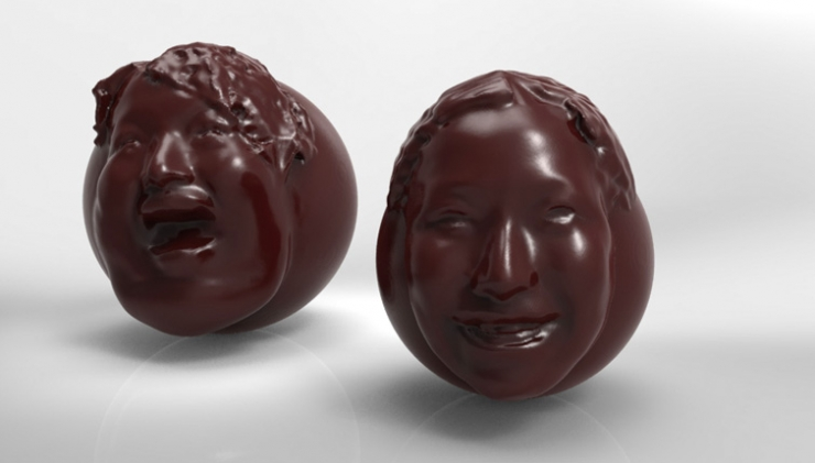 San Valentino 2013: cioccolatino-ritratto dell'amato stampato in 3D [FOTO]