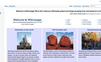 Wikivoyage, la Wikipedia dei viaggi consigliati dagli utenti [FOTO]