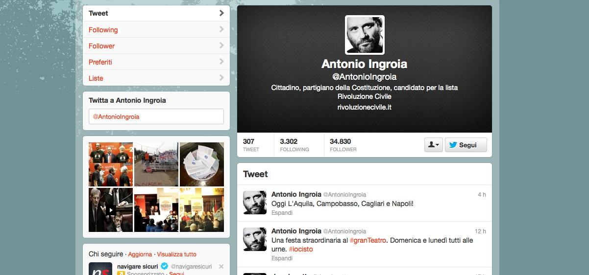 Antonio Ingroia Twitter