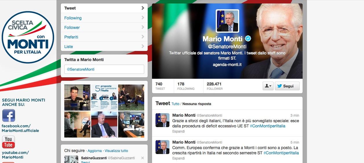 Mario Monti Twitter