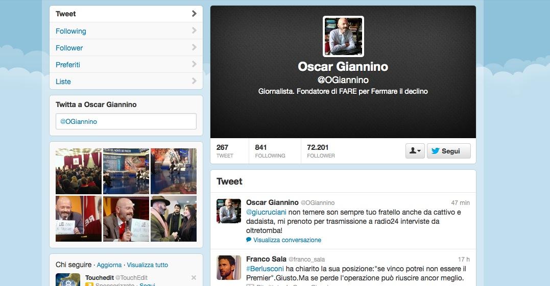 Oscar Giannino Twitter