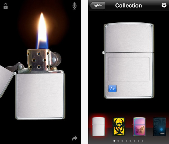 Zippo Lighter App iPhone