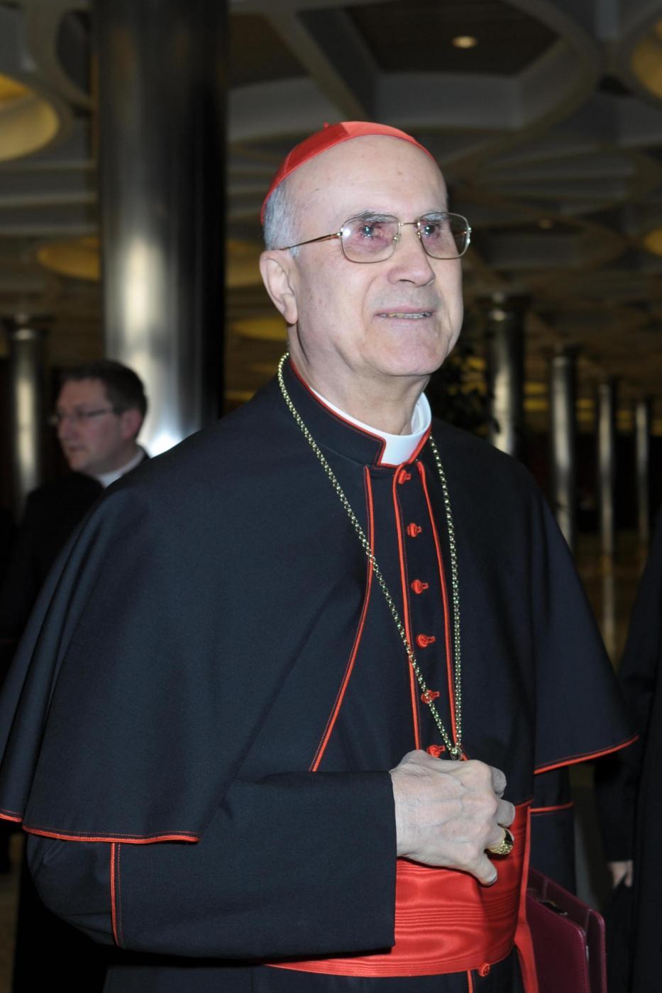 Il cardinale italiano Tarcisio Bertone