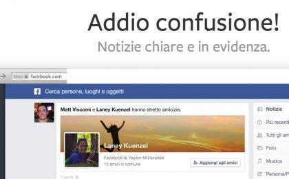 Facebook Notizie cambia look e diventa minimalista