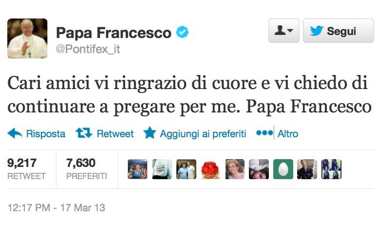 Papa Francesco su Twitter: @Pontifex riprende vita [FOTO]