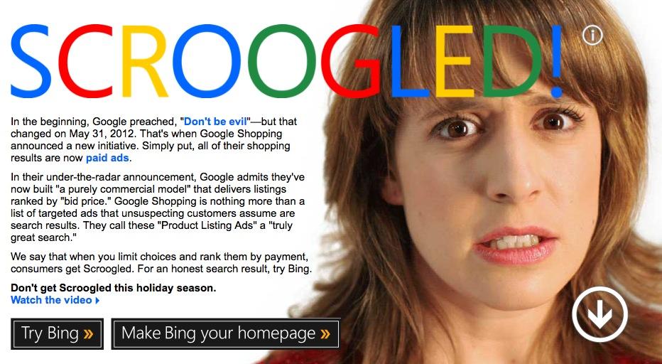 microsoft vs google shopping scroogled