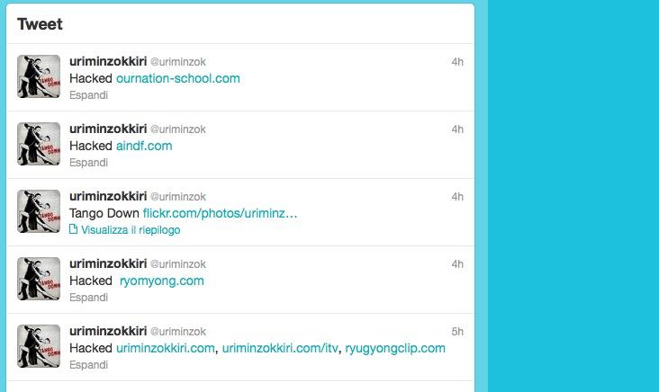 Account Twitter Corea del Nord violato dagli Anonymous
