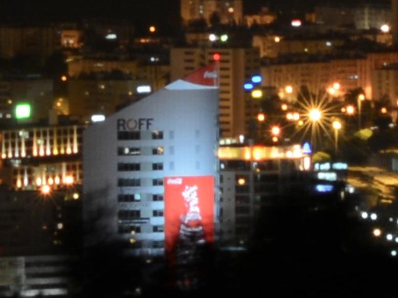 Particolare panorama notturno torre